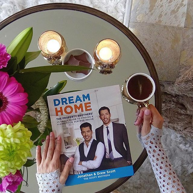 "#excitingmoment Taking ""me time"" to enjoy my advanced copy of ""Dream Home"" by my favorite HGTV stars @mrdrewscott and @mrsilverscott of #PropertyBrothers . I have been a huge fan of their show and their talent shines through in this book. Beautiful renovations and chic design ideas. A must have! The book will be available April 4th, you can order yours today! LINK IN BIO... I would hurry up and order mine today... #decor #F4F #home #followback"