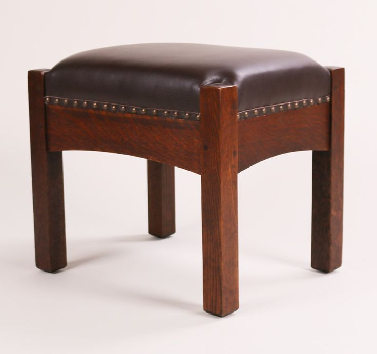 Heavy L&JG Stickley footstool.  Signed with L&JG Stickley Handcraft mark.  Excellent original patina.