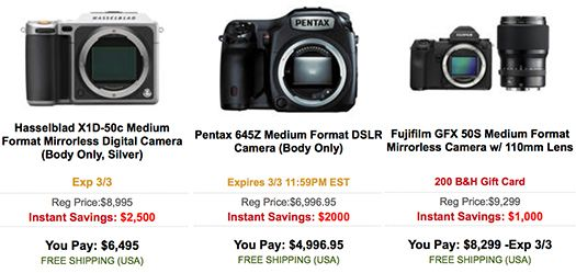 Medium format cameras on sale: 24 hours left on the WPPI deals | Photo Rumors