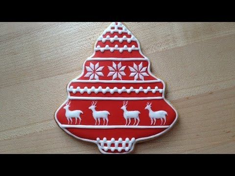 How To Decorate A Christmas Cookie - Reindeer Pattern - YouTube
