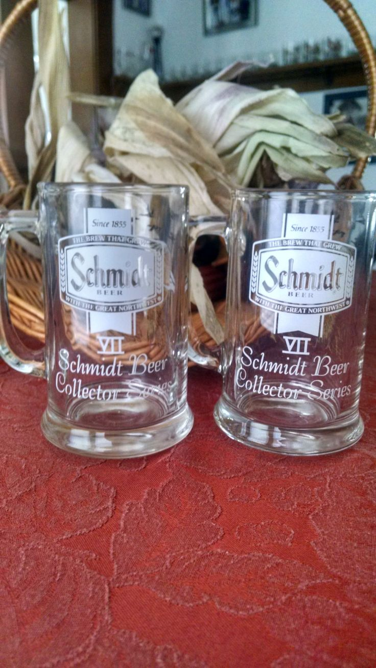 Two Vintage Schmidt Beer Collectors Series Glass Stein Mugs.Series Vll Canadian Geese.Set of two. by PawPawsFrontPorch on Etsy
