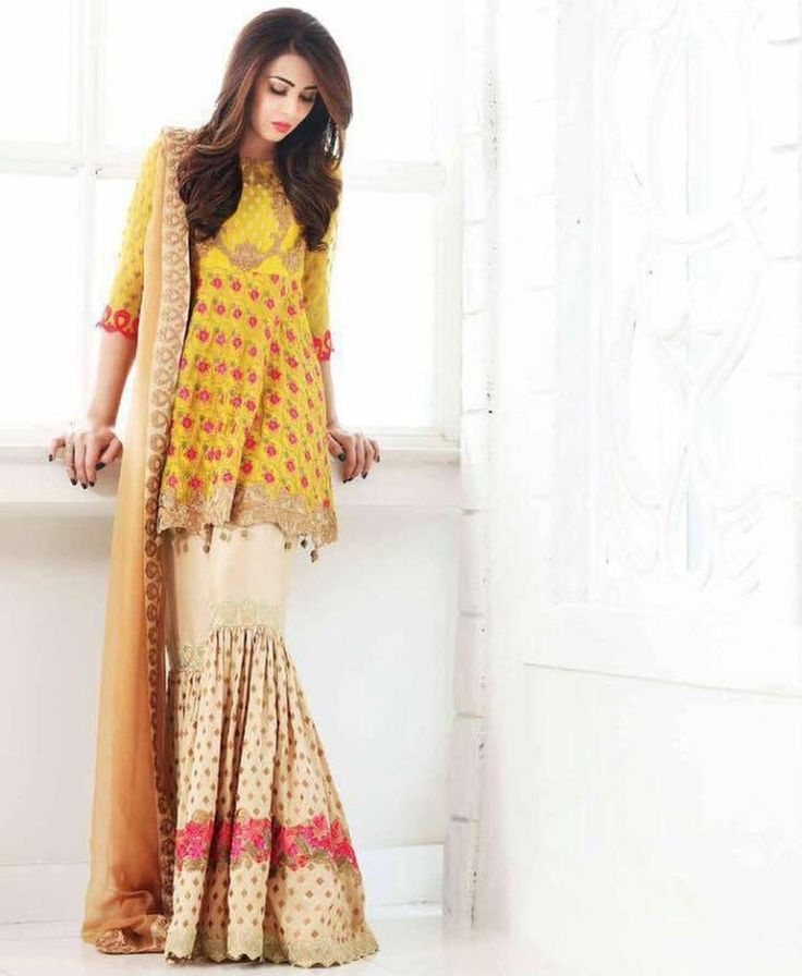 394 Best Pakistani Sharara Images On Pinterest