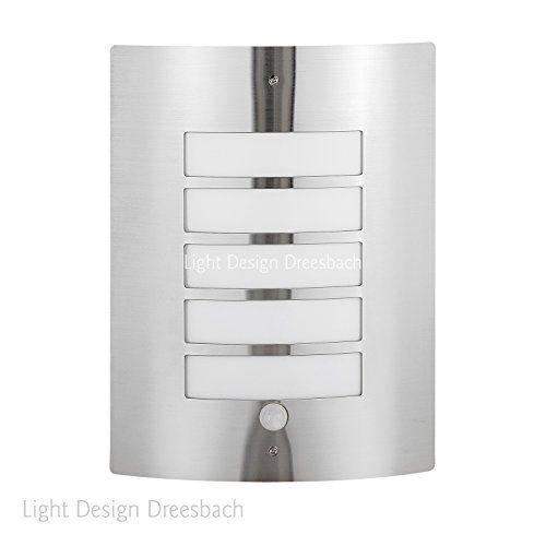 1er Set Edelstahl Wandleuchte Außenlampe Aussenleuchte mit Bewegungsmelder und LED COB 12Watt 1100Lumen warmweiß E27 - http://led-beleuchtung-lampen.de/1er-set-edelstahl-wandleuchte-aussenlampe-aussenleuchte-mit-bewegungsmelder-und-led-cob-12watt-1100lumen-warmweiss-e27-2/ #AußenleuchtenmitBewegungsmelder