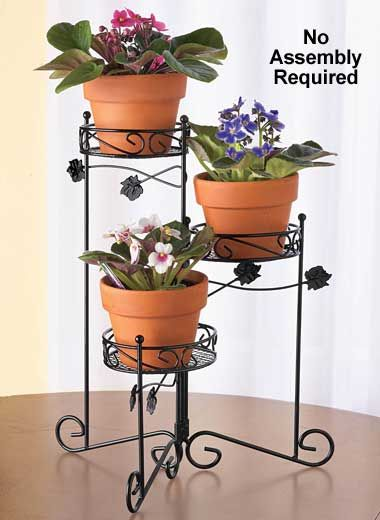 Foldable flower pot stand beautifully detailed plant stand is crafted of metal with a rich - Flower pot stands metal ...