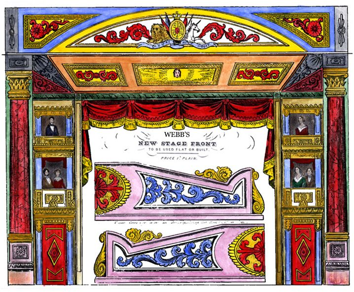 printable toy theater | reproduction of Webb'sMiniature Stage Front, painted by myself in ...