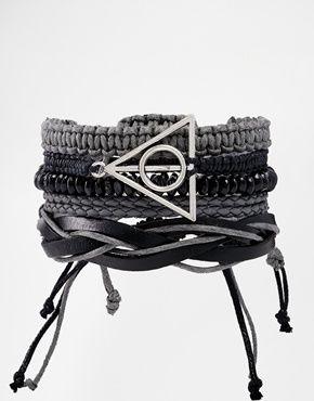 River Island Woven Bracelet Pack