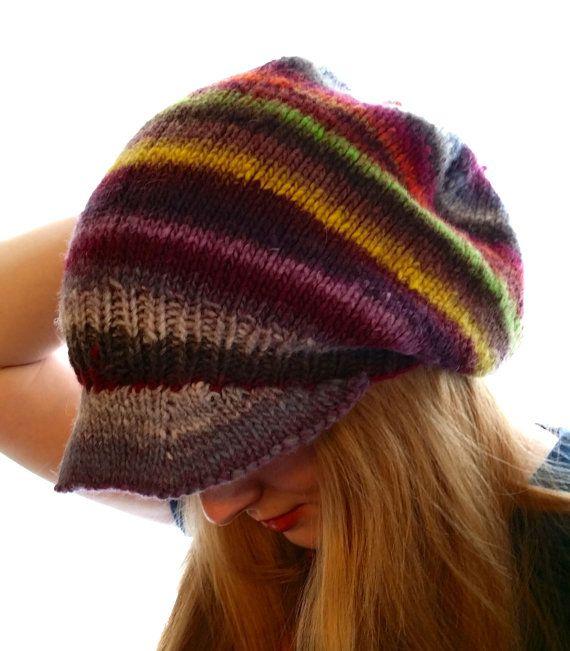 Knitting Pattern Rastafarian Beanie : Rasta Hat Super Slouchy Slouchy Beanie Slouch Hat by ThatGirlKnitz, USD34.99 ...