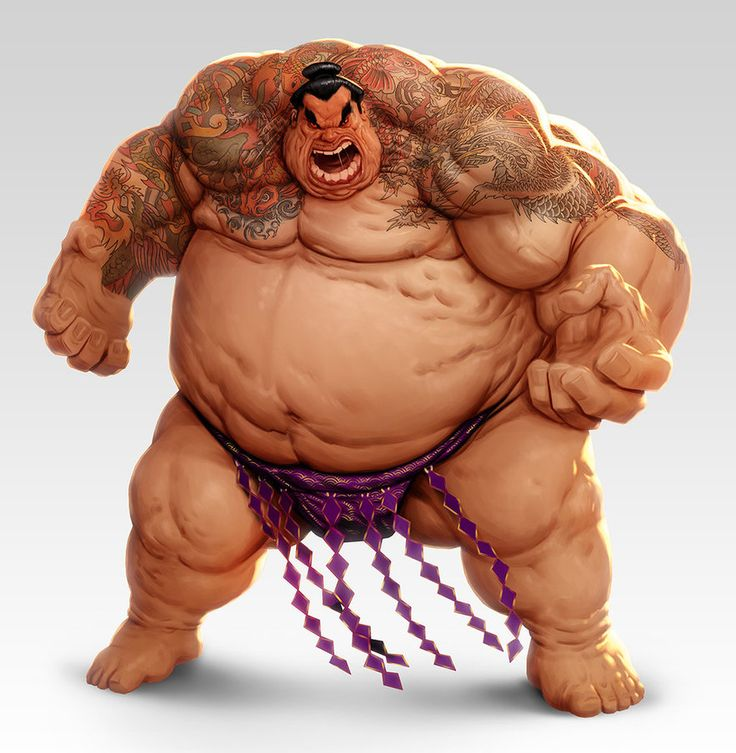 Sumo wrestler by lordeeas