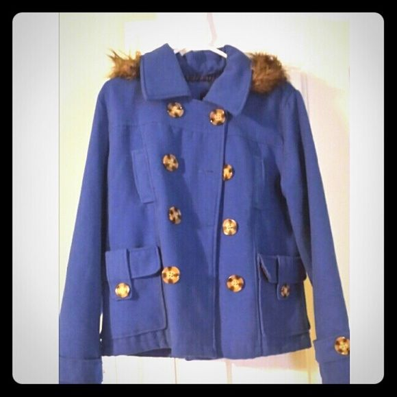 Rue21 Royal Blue Jacket I have a very cute royal blue jacket lined with zebra print. Great condition! Only worn a few times. Rue 21 Jackets & Coats Blazers