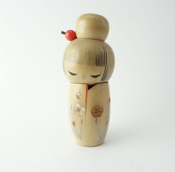 Vintage Kokeshi Puppe RefA2 Ref1 von NostalgicKingyo auf Etsy