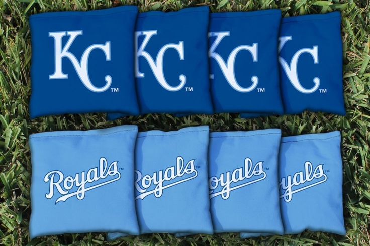 Kansas City Royals MLB Cornhole Bags #cornhole #victorytailgate