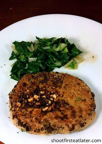 Cohen Lifestyle - tuna burger with bok choy