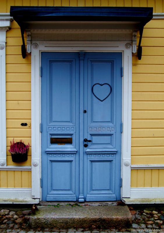 Door, Old Town in Porvoo / Borgå, Finland