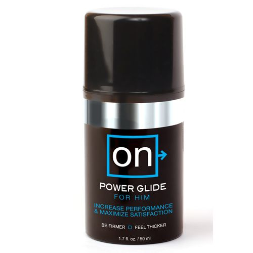 POWER GLIDE is a fast-acting gel that dramatically heightens sensation for men and increases blood flow. It makes men feel thicker and firmer, and maximizes their satisfaction. This unique hybrid-gel is pleasant to apply and provides a silky glide that is massaged directly onto the penis.
