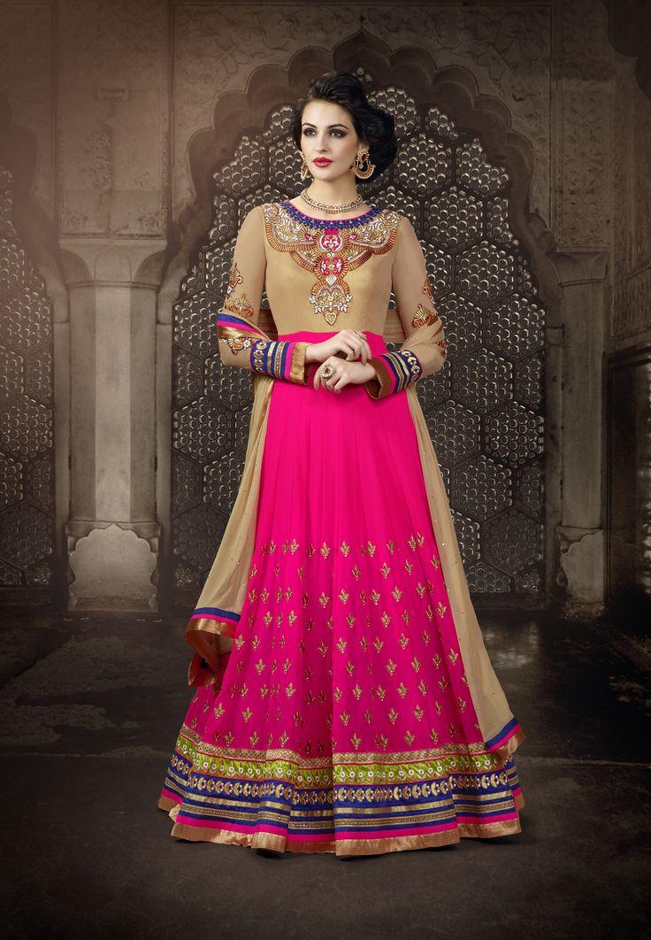 Designer Anarkali Suit with Lace Border