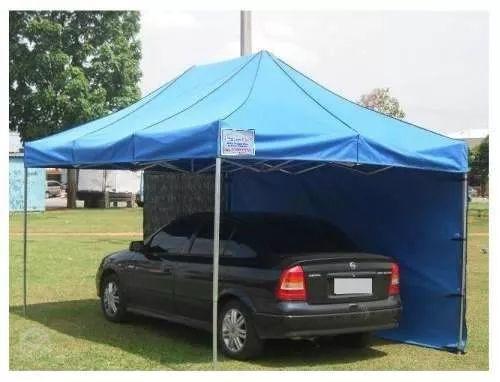 barraca tenda pantográfica 4,5x3 sanfonada exosições eventos