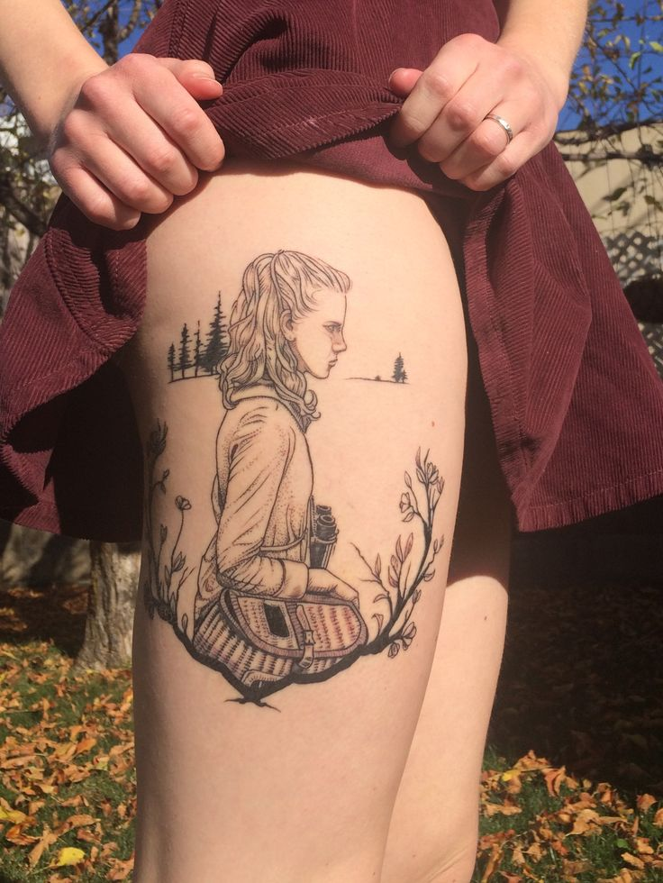 "Suzy from Wes Anderson's ""Moonrise Kingdom"". Done by Annelisa Ochoa @ 27 Tattoo, Salt Lake City, UT."
