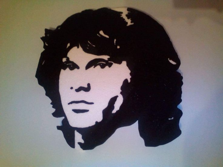 Jim Morrison stencil Hungarocell, nikecell Székesfehérvár