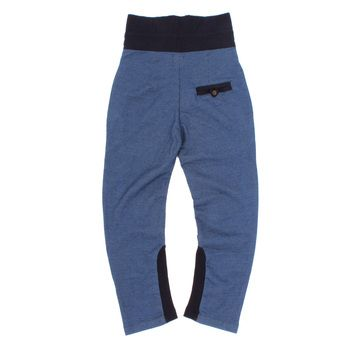 Baggy Trousers in Navy and Denim Jersey   Jessie and James   Sprogs Inc