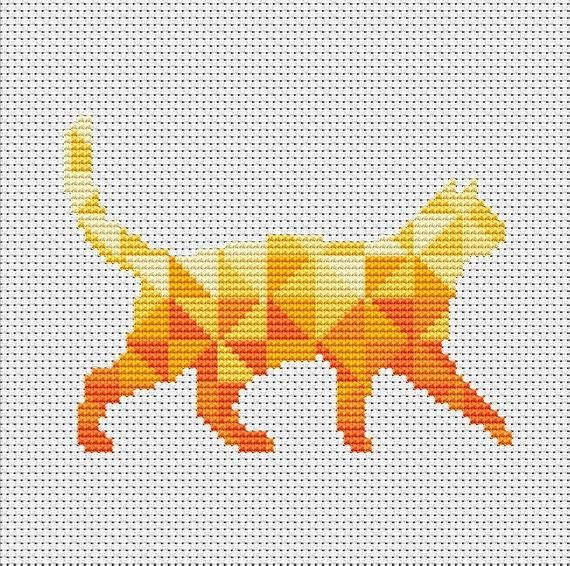 Sewing Kittens DIY Chart Counted Cross Stitch Patterns Needlework DMC Color
