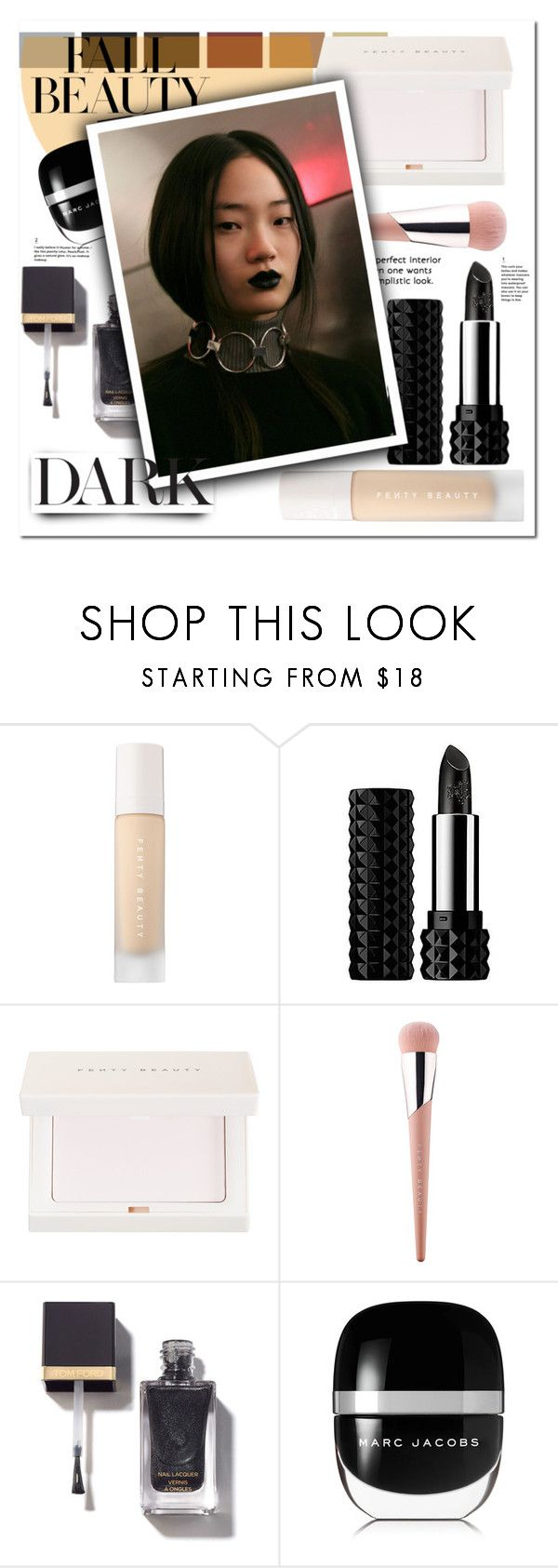 """""""dark fall"""" by jasmimbonlevour ❤ liked on Polyvore featuring beauty, Puma, Kat Von D and Marc Jacobs"""
