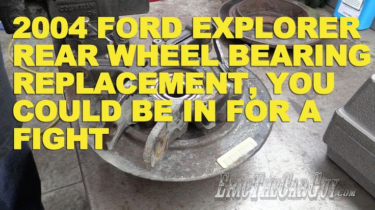 39 best automotive tutorial images on pinterest ford explorer car 2004 ford explorer rear wheel bearing replacement you could be in for a fandeluxe Image collections