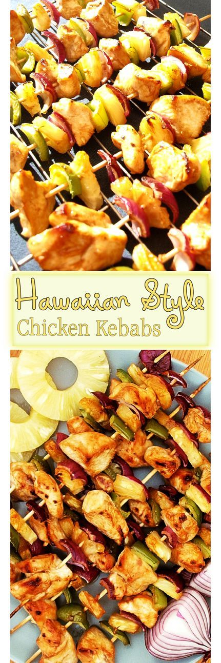 A succulent chicken kebab Hawaiian Style skewer recipe.