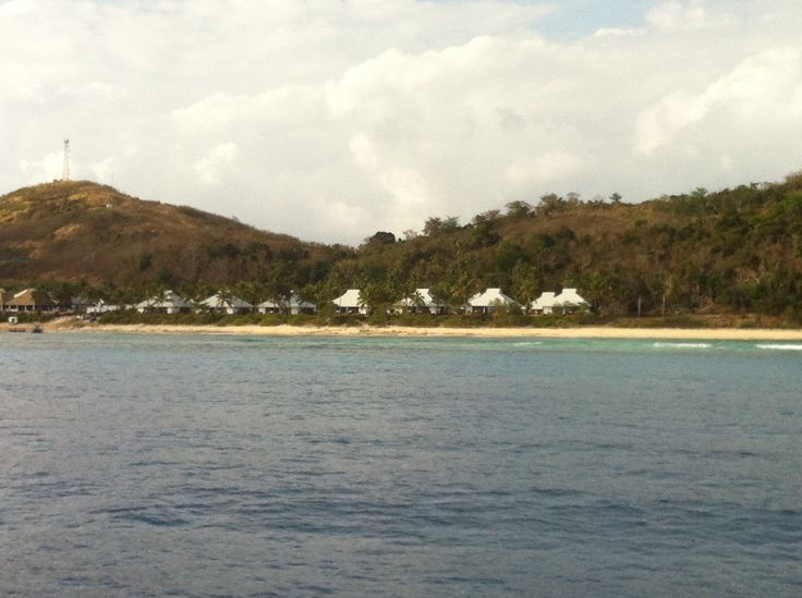 Sheraton Tokoriki view from ocean.