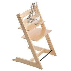Chaise haute Tripp Trapp Stokke naturel brun clair La chaise qui grandit avec l'enfant dès la naissance