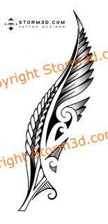 maori-silver-fern-New-Zealand-tattoo-images by Storm3d.com, via Flickr