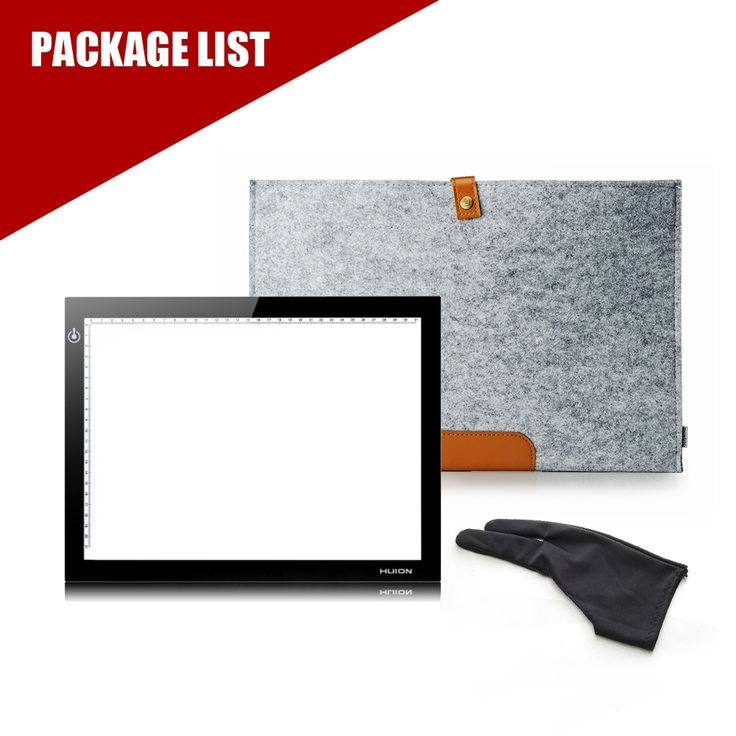 51.11$  Watch here - http://aip5p.worlditems.win/all/product.php?id=32667405986 - HUION L4S A4 LED LIGHT PAD Tracing Light Broad Tablet for Drawing +Wool Liner Bag+Two Finger Painting Glove
