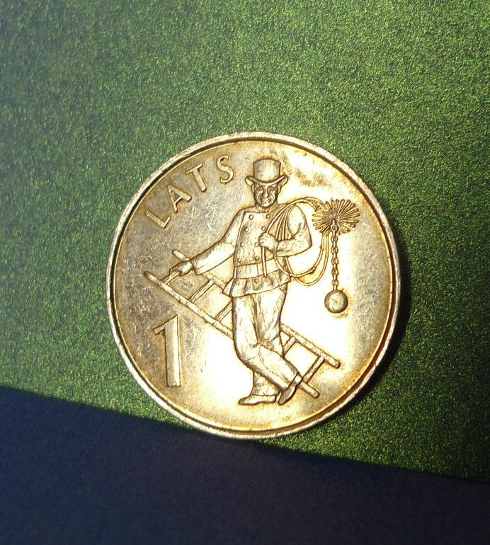 pa. Latvia 1 LATS 2008 CHIMNEY SWEEP - Coin for Luck Jewelry making Scrapbooking Crafting Jewelry making Souvenir coin numismatic by ForCollecting on Etsy