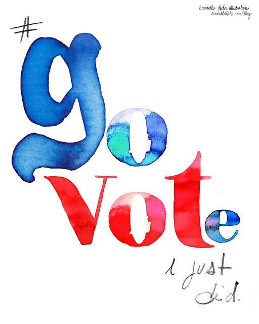 Go vote! If you believe in liberty and justice for all, particularly vote for Gary Johnson.