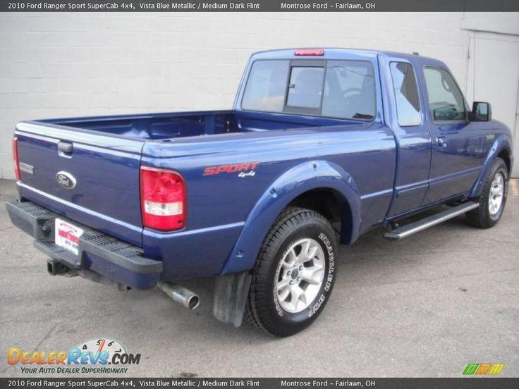 ford ranger 4x4 blue   2010 Ford Ranger Sport SuperCab 4x4 Vista Blue Metallic / Medium Dark ...