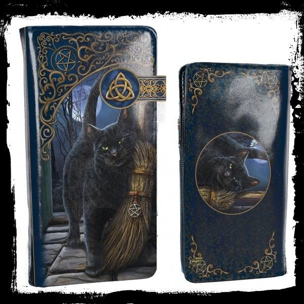 The Charmed One Embossed Purse 18.5cm by Lisa Parker Cat Witch Nemesis Now