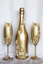 Свадебные аксессуары (Свадебное шампанское, Бокалы, наборы) : фотографии Свадебные услуги