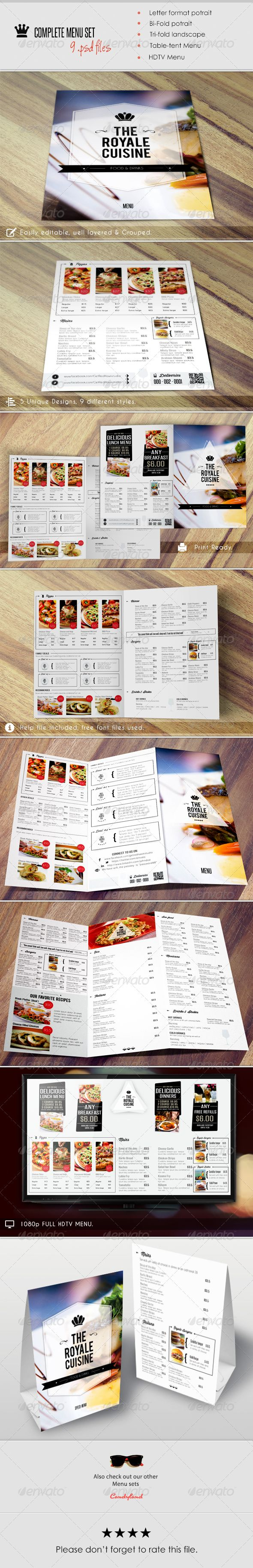 Menu Pack 2 Food Menu TemplateRestaurant