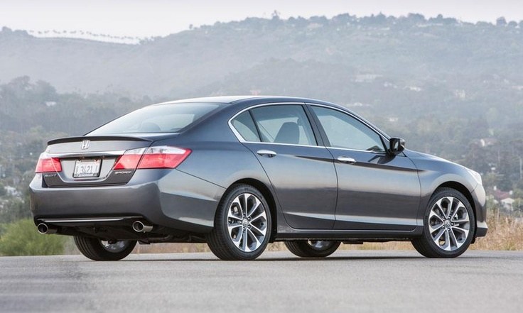 The styling of the 2013 Honda Accord Sport sedan isn't radical, but elegant cues such as headlights and wheels keep the car's appearance from becoming boring.  Photo by Honda.