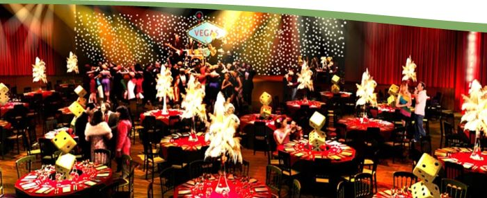 Christmas party casino night london
