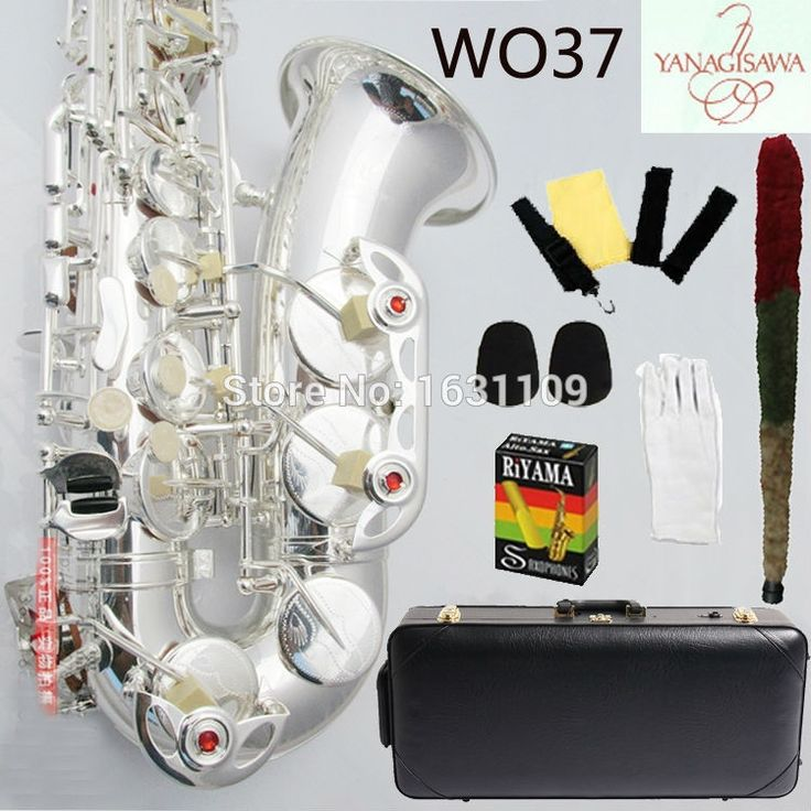 550.00$  Know more  - Free shipping EMS Genuine Yanagisawa Alto Saxophone Silver plated W037 Professional E Sax mouthpiece With Case and Accessories