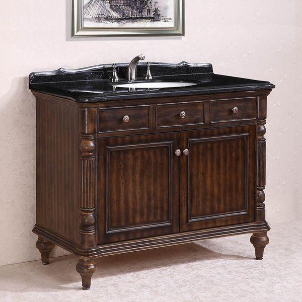 17 best images about antique bathroom vanities on - Bathroom vanity black marble top ...