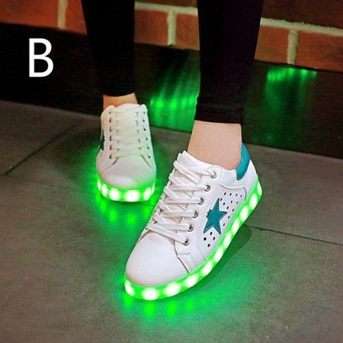 Vert Chaussures Qui S'Allumen Creux