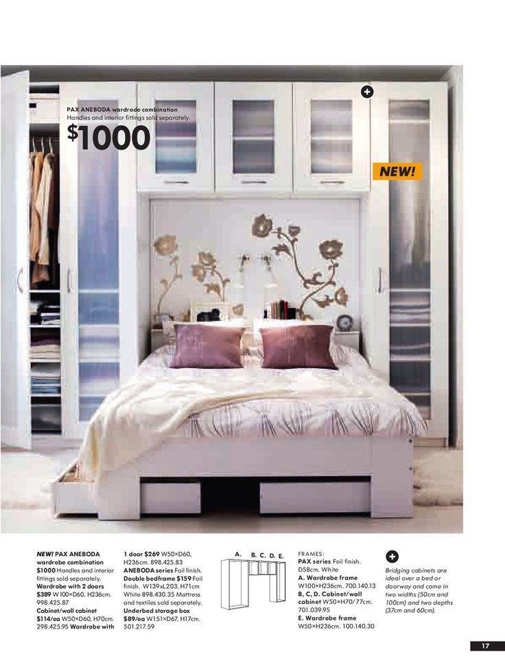 Image result for ikea pax system around bed