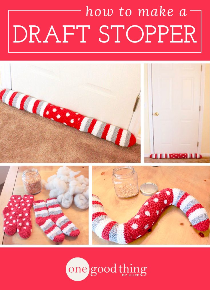 Sock It To Your Energy Bill! Make Your Own Draft Stopper!