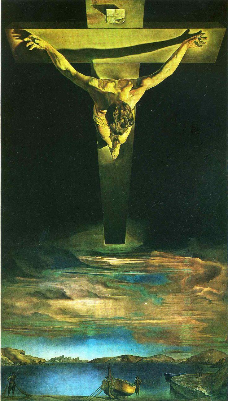 """Salvador Dali- """"Chrystus św. Jana od Krzyża"""" 1951"""
