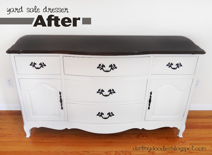 51 best images about furniture makeover on pinterest vintage dressers how to spray paint and - Before and after old dressers makeover with a little paint ...