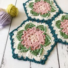 Free crochet hexagon pattern