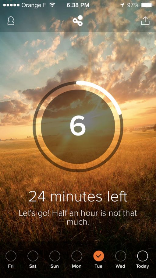 Human - Probably one of the most beautiful pedometer and personal health tracking apps we have seen. This one not only simplifies the whole information data process but also stitches stunning nature photography into the experience