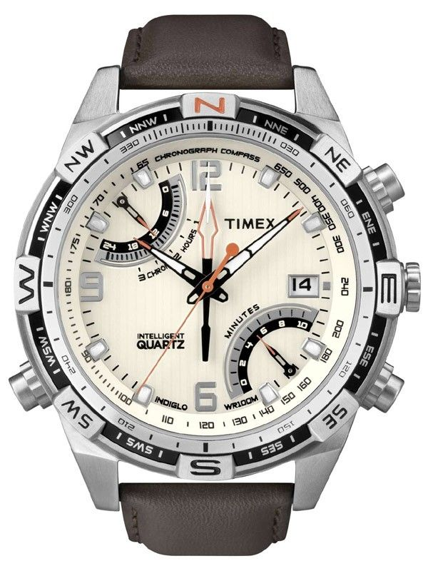 Timex Expedition Flyback Chrono Herrenuhr T49866 Kompassuhr IQ Serie