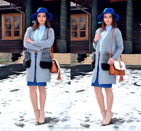 Get this look: http://lb.nu/look/8953256  More looks by Natalia Uliasz: http://lb.nu/czarnulaxyz  Items in this look:  Stradivarius Blue Hat, Zaful Blue Shirt, Zaful Cardigan, Stradivarius Denim Skirt, Dresslily Bag, Deezee.Pl Boots   #bohemian #casual #vintage #bluehat #denimskirt #pencilskirt #stradivarius #blueshirt #blouse